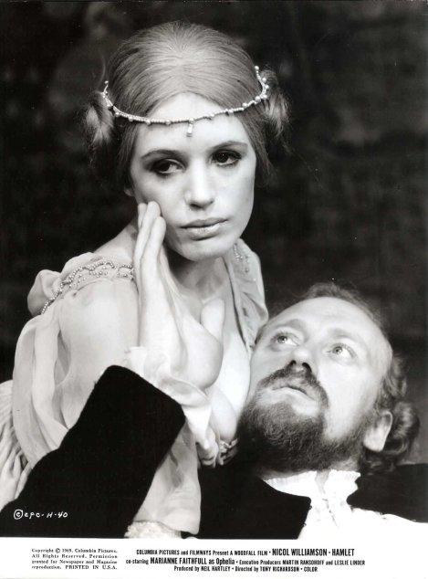 Marianne Faithfull as Ophelia. Probably the sexiest film Ophelia ever