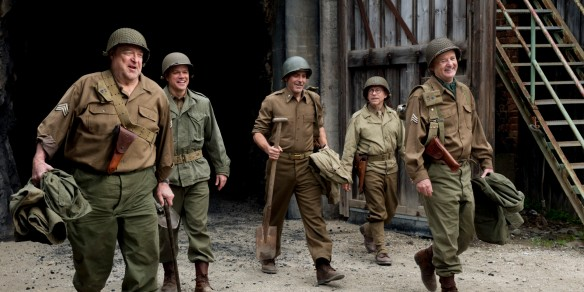 The stars of the Monuments Men set out to save European Art and Civilisation armed with shovels
