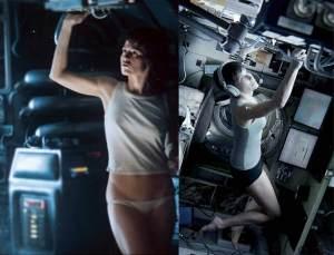 The Heroine in Underwear Theme: Ripley and Ryan