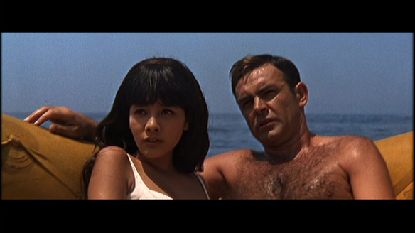 One reference too far. James Bond in the life raft scenes