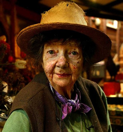 The artist as oil painting: a photo of Margaret Olley. (Published in The July 29, 2011)
