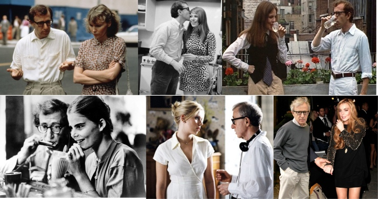 Woody Allen and his many muses: Mia Farrow Louise Lasser , Diane Keaton, Muriel Hemingway, Scarlett Johannson, Lindsay Lohan
