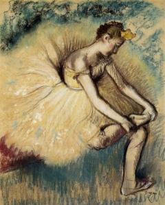 Edgar-Degas-Dancer-Putting-on-Her-Slipper-Oil-Painting