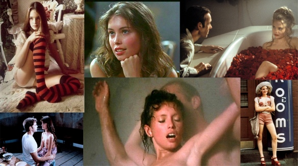 Brooke Shields in Pretty Baby, Jane March in The Lover. Mena Suvari n American Beauty, Ariel Besse in Beau Pere, Jane March Colour of Night and Jodie Foster in Taxi Driver