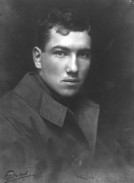 The young Robert Graves as an officer in the Royal Welch Fusiliers in the First World War