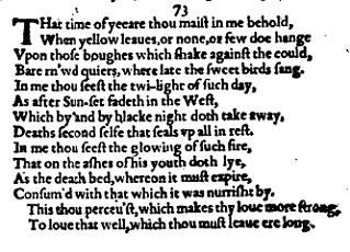 How poetry works: Shakespeare's Sonnet 73