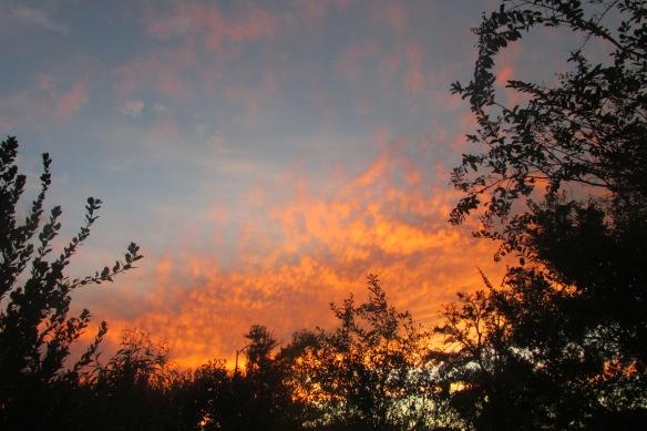 sunset fading