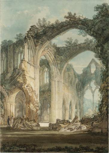 J. M. W. Turner, The Chancel and Crossing of Tintern Abbey, Looking Towards the East Window, 1794