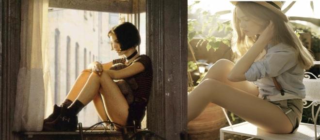 Natalie Portman in Leon the Professional and Jeisa Chiminazzo photographed by David Hamilton