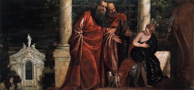 Susanna and the elders1588 Paulo Veronese