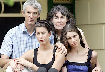 Anthony and Christine Foster with daughters Aimee and Katie Both of whom were abused by a paedophile priest.. Emma took her own life at the age of 26