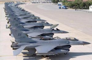 Some of Saudi Arabia's airforce. The planes in this photo equal Australia's total strike power