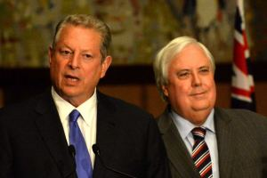 We all make mistakes. Sometimes we know we were making them: Al Gore appears with Clive Palmer