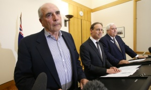 Bernie Fraser looks  thrilled at  heading up 18 months enquiry into something that everybody except  Greg Hunt understands