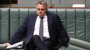 Joe Hockey can take up quite a lot of space even when he's not eating pizza