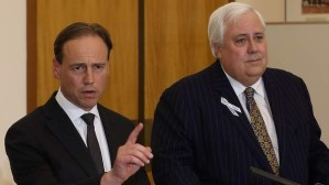 If Clive Palmer got such a good deal from  Greg Hunt,  why isn't he looking happier?