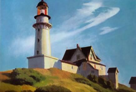 Lighthouse at Two Lights II Edward Hopper