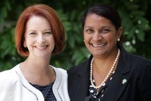Captain's pick Nova Peris was parachuted into the Senate by the captain. Julia Gillard