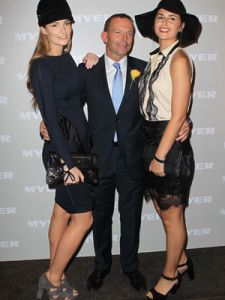 Bridget, Tony and Francis Abbott at Golden Slipper Day. Because the father is the Prime Minister the Abbott girls have been given opportunities and advantages denied to most Australian  young women