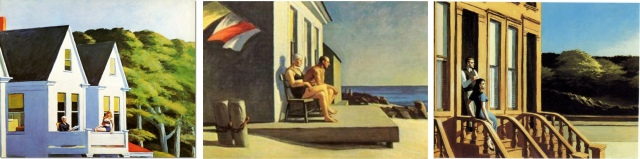 Sunlight and compositional similarity in Hopper's paintings