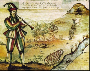 Oldest known illustration of the Pied Piper