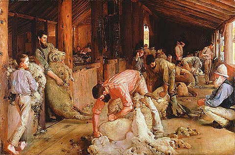Tom Roberts: Shearing the Rams