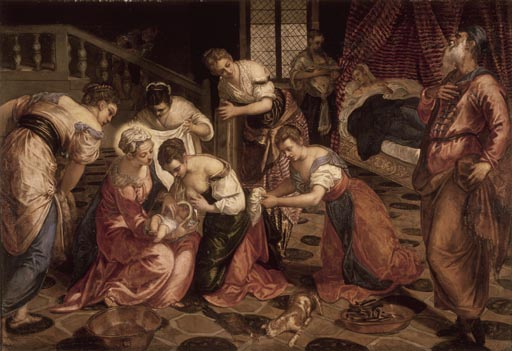 Tintoretto: the Birth of kept on the Baptist