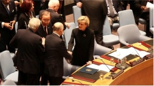 Julie Bishop at the UN Security Council: A beneficiary of Labor Party efforts.
