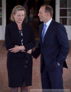 This is the Prime Minister giving the new Minister of Health little pat on the bum at the swearing-in ceremony at government house. You can see how pleased she is.