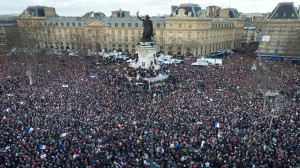 Je suis Charlie protesters in Paris