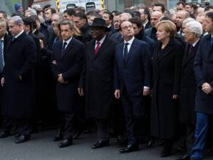 World leaders joined protest