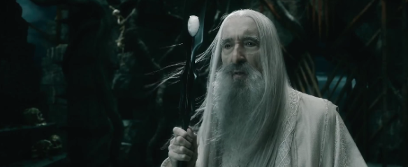Christopher Lee, now 93 plays Saruman with chilling menace