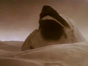 A Sandworm from Frank Herbert's Dune Which gets a  bit part  in  The Battle of the Five Armies