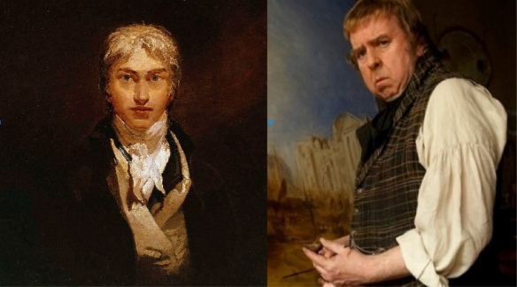 JMW Turner:  Self-portrait and as portrayed by Timothy Spall