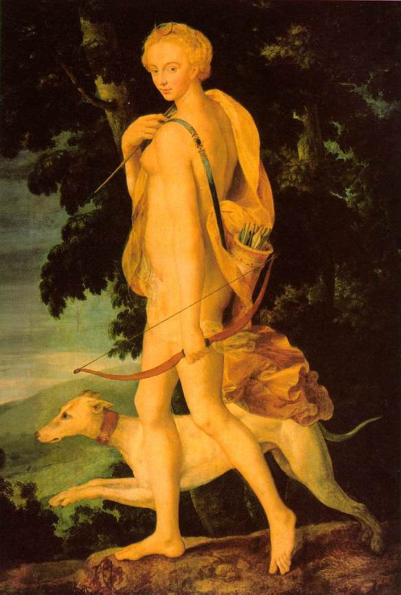 Diana that huntress and  her coursing greyhound