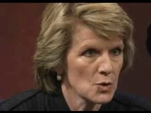Julie Bishop will probably  a few words to say to Tony Abbott