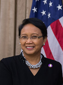 Indonesian Foreign Minister Retno Marsud