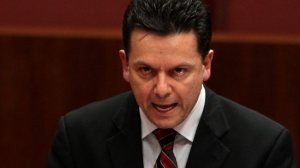 Nick Xenophon has fixed Christopher Pyne with the evil eye