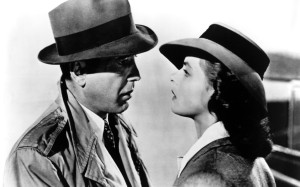Humphrey Bogart and Ingrid Bergman.
