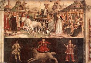 Francesco del Cossa: March the triumph of Minerva