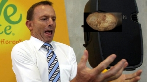 Juggling the budget deficit has become a hot potato for Tony Abbott