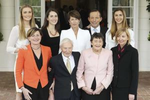 The Abbott family: around 90% of this family supports gay marriage
