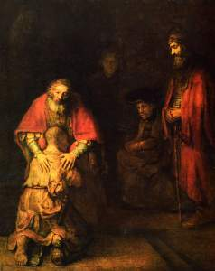 Rembrandt: The return of the prodigal son