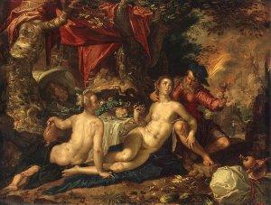 Lot and his Daughters - Joachim Wtewael