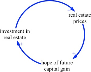The simple reinforcing loop of housing investment