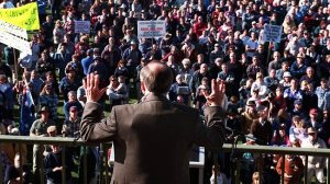 John Howard wore body armour when he addressed this rally of angry gun owners.  They felt deeply insulted.