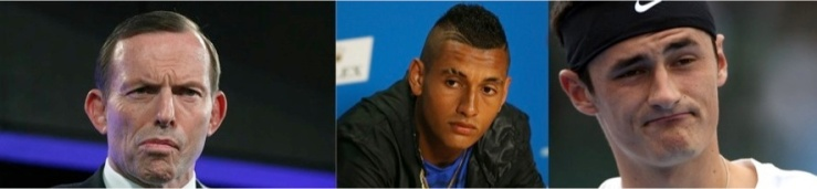 Dummy spitters: Abbott, Kyrgios and Tomic