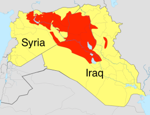 ISIS  controlled  territory in the Middle East