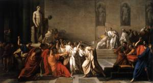 The Death of Julius Caesar by Vincent Camuccini
