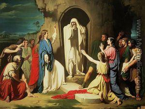 The Raising of Lazarus: Carl Heinrich Bloch: The Raising of Lazarus: